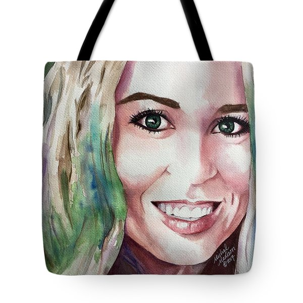 Tote Bag featuring the painting Meka by Michal Madison