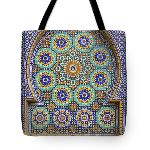 Tote Bag featuring the photograph Meknes by Ramona Johnston