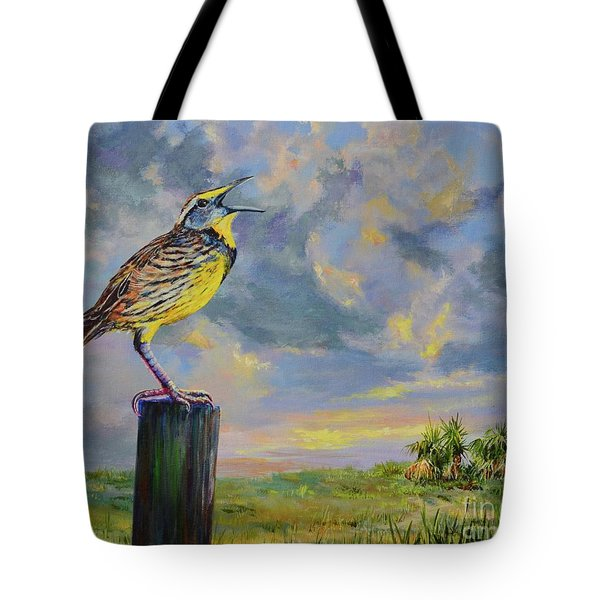 Melancholy Song Tote Bag by AnnaJo Vahle