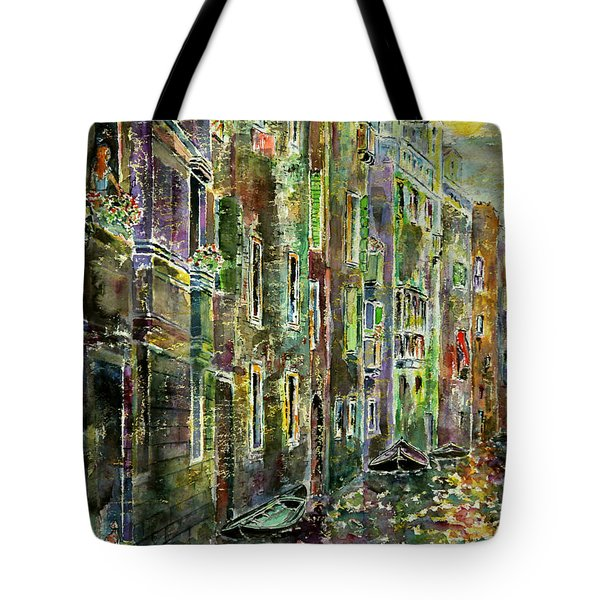 Tote Bag featuring the painting Melanconia by Alfred Motzer