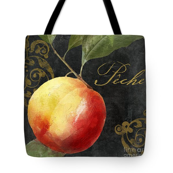Melange Peach Peche Tote Bag by Mindy Sommers