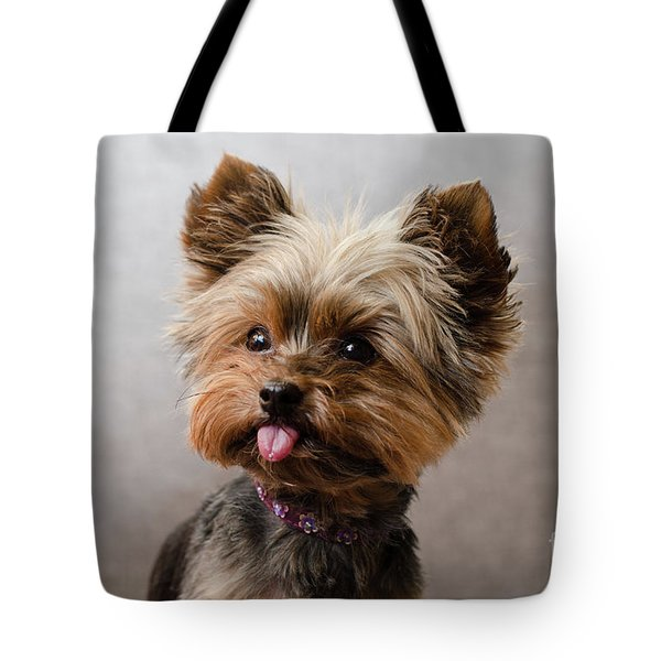Tote Bag featuring the photograph Melanie In Grey by Irina ArchAngelSkaya