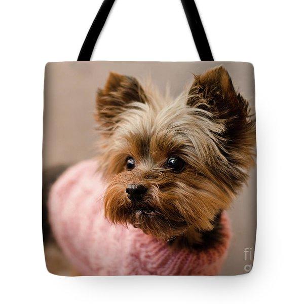 Melanie In Pink Tote Bag