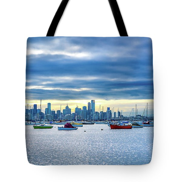 Melbourne Skyline Tote Bag