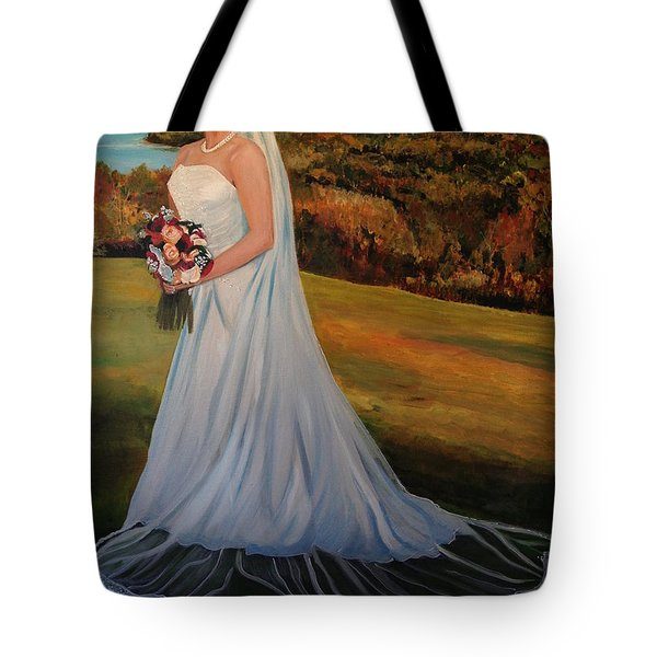 Tote Bag featuring the painting Melissa by Alan Lakin