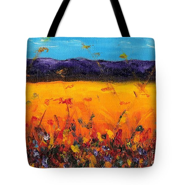 Melissa's Meadow Tote Bag by Frances Marino