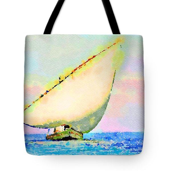 Tote Bag featuring the painting Mellow Dawn by Angela Treat Lyon