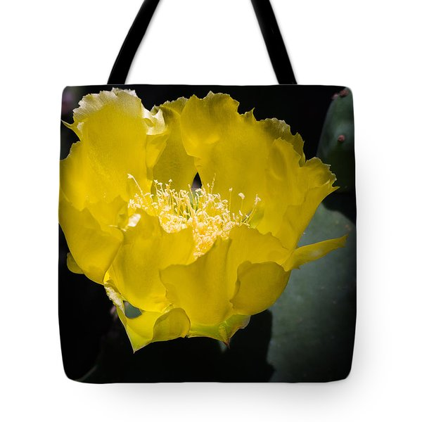 Mellow Yellow Cactus Flower Tote Bag
