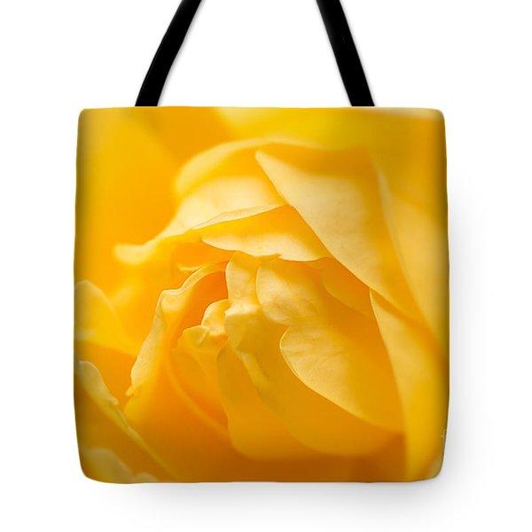 Mellow Yellow Rose Tote Bag
