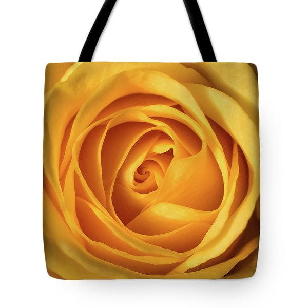 Tote Bag featuring the photograph Mellow Yellow Rose Square by Terry DeLuco