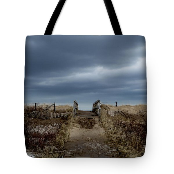 Tote Bag featuring the photograph Melmerby Beach Boardwalk by Kathleen Sartoris