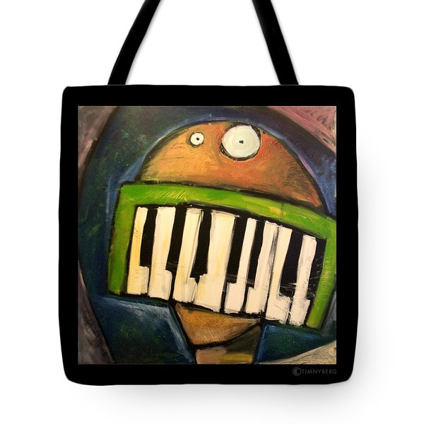 Melodica Mouth Tote Bag by Tim Nyberg