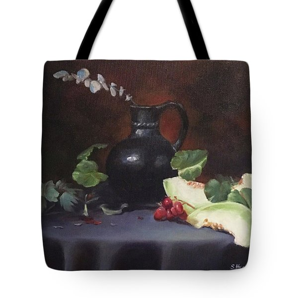 Melon And Vase Tote Bag