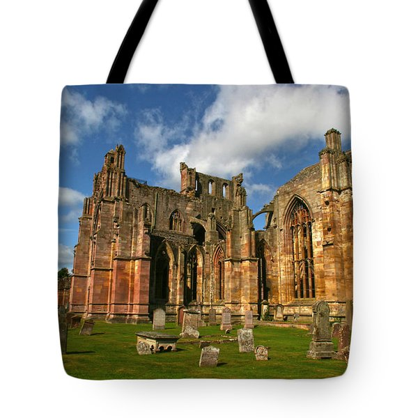 Melrose Abbey Tote Bag