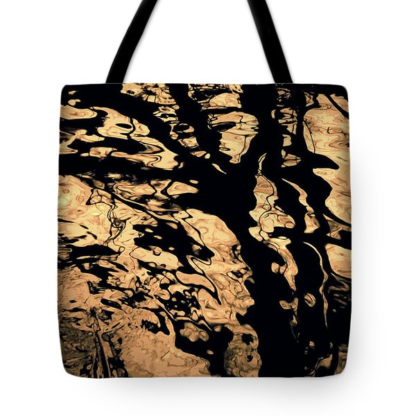 Melted Chocolate Tote Bag by Yulia Kazansky