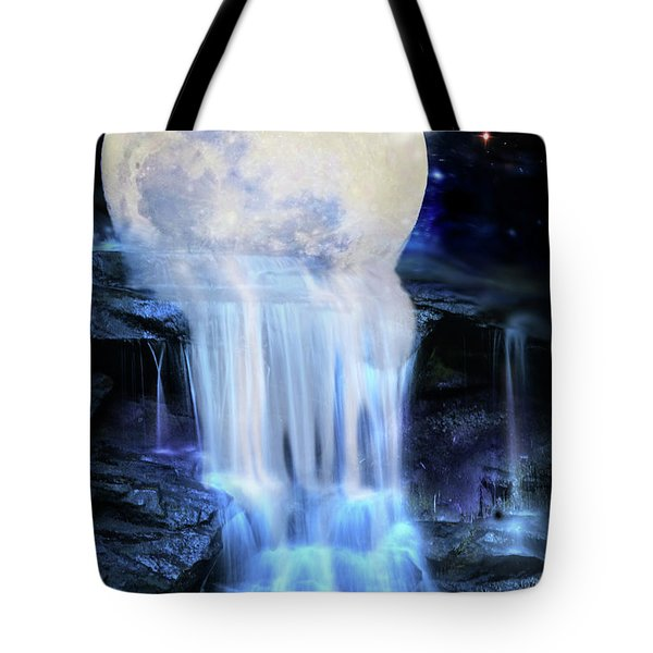 Melted Moon Tote Bag