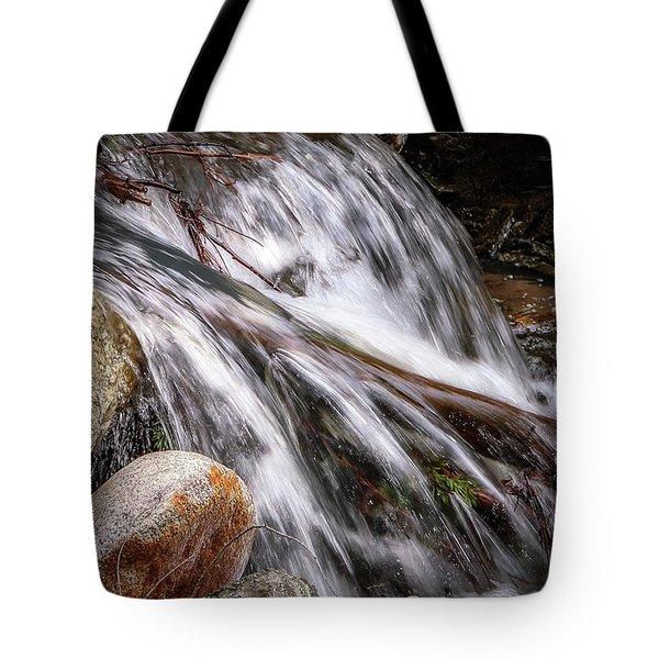 Melting Snow Falls Tote Bag
