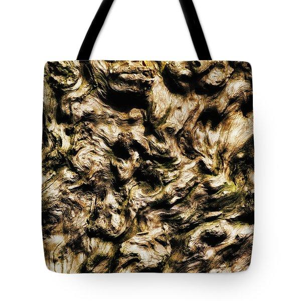 Melting Wood Tote Bag by Wim Lanclus