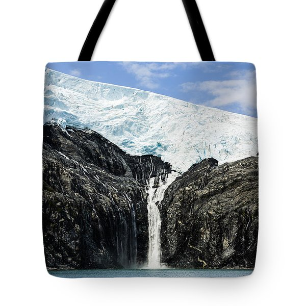 Meltwater From The Northland Glacier Tote Bag