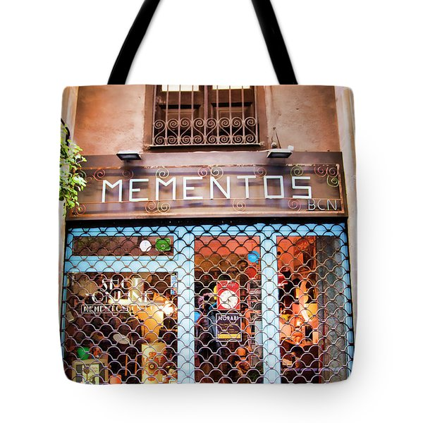 Mementos Shop Barcelona  Tote Bag