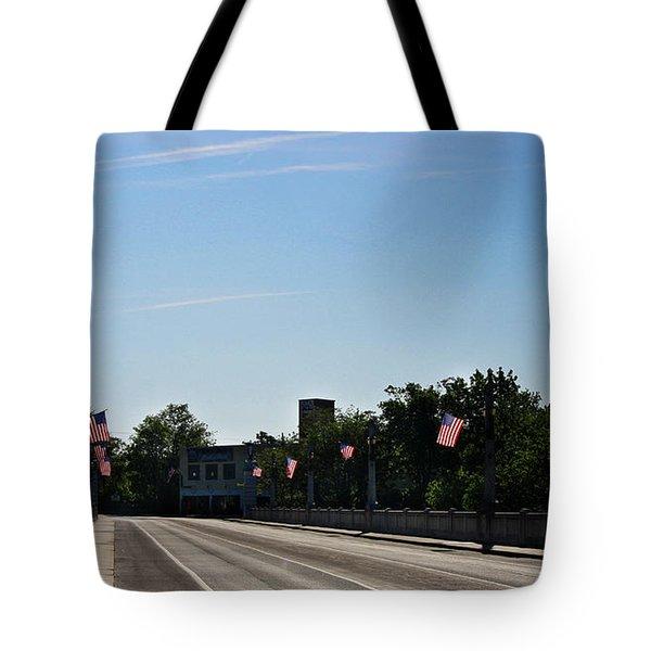 Memorial Avenue Bridge Roanoke Virginia Tote Bag by Teresa Mucha