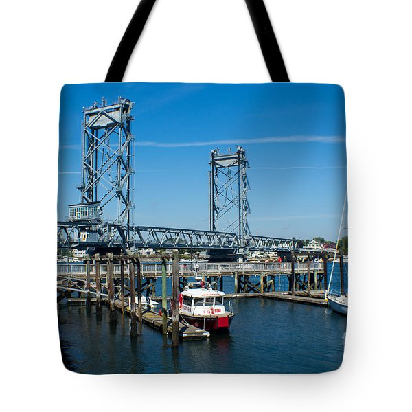 Memorial Bridge Portsmouth Tote Bag by Kevin Fortier