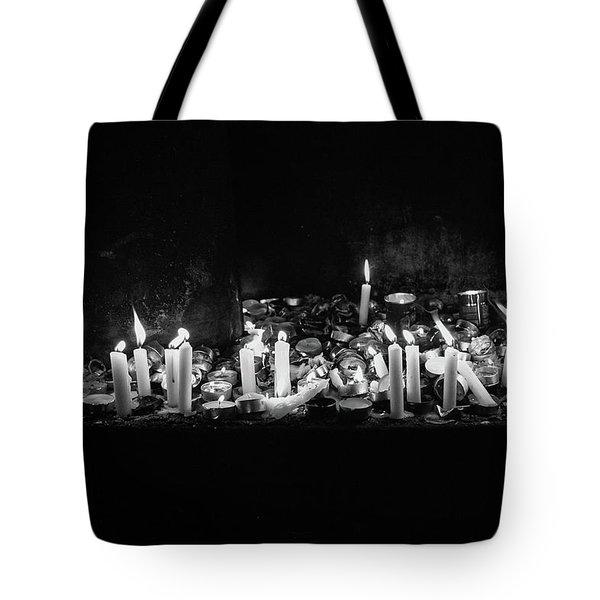 Memorial Candles II Tote Bag by Yoel Koskas