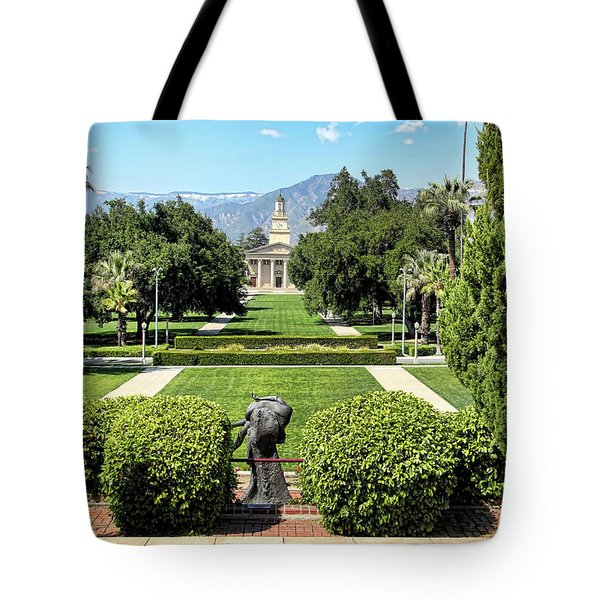 Memorial Chapel University Of Redlands Tote Bag