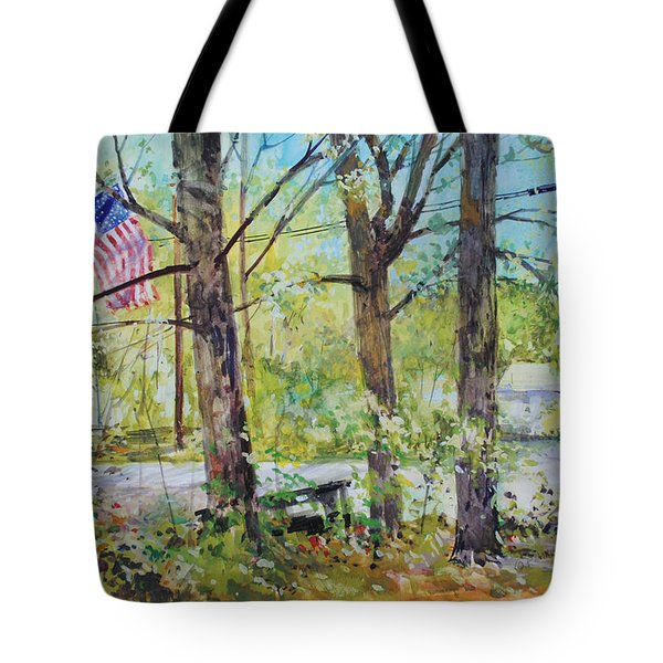 Memorial Day Flag Tote Bag