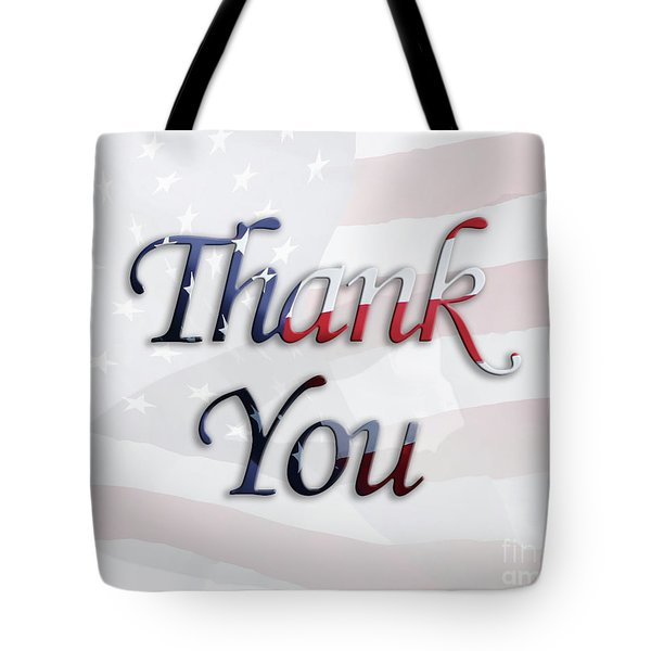 Memorial Day Salute Tote Bag by Anita Oakley