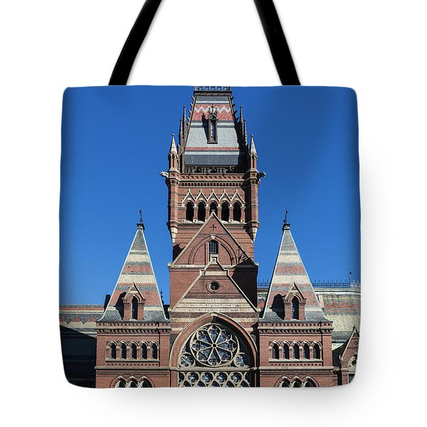 Memorial Hall Harvard Tote Bag by John Greim