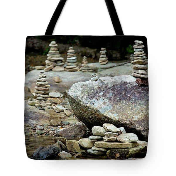 Memorial Stacked Stones Tote Bag