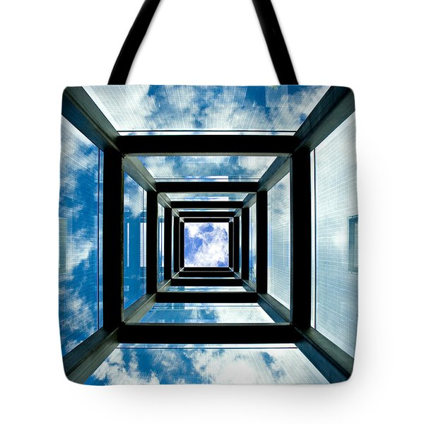 Memorial Stacks Tote Bag by Greg Fortier