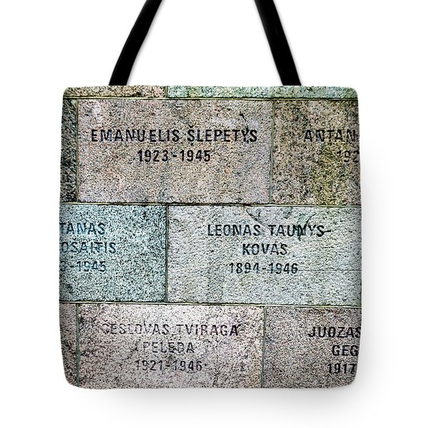 Memorial To Resistance Fighters Tote Bag