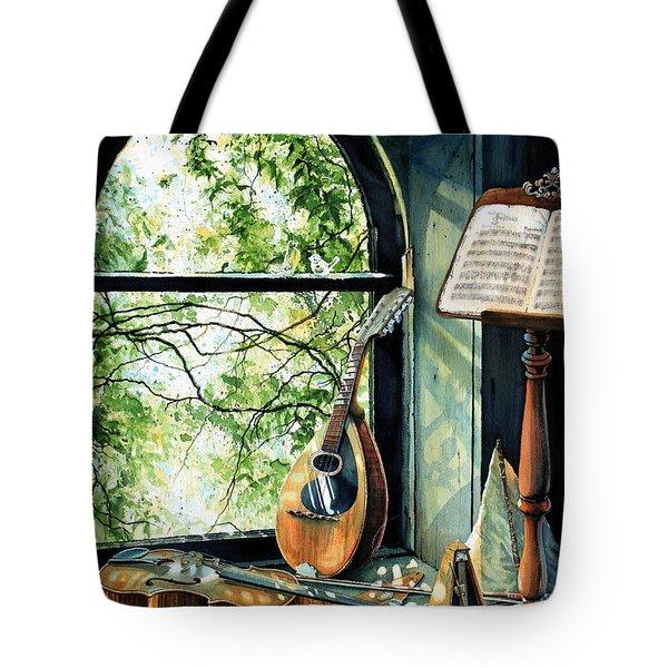 Memories And Music Tote Bag by Hanne Lore Koehler