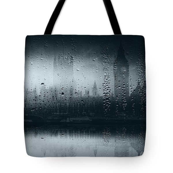 Tote Bag featuring the digital art Mystical London by Fine Art By Andrew David