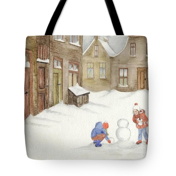 Tote Bag featuring the painting Memories........... by Annemeet Hasidi- van der Leij