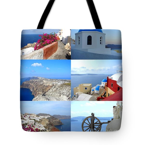 Tote Bag featuring the photograph Memories From Santorini by Ana Maria Edulescu