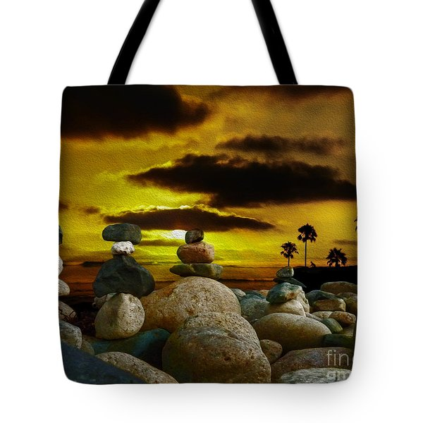 Tote Bag featuring the digital art Memories In The Twilight by Rhonda Strickland