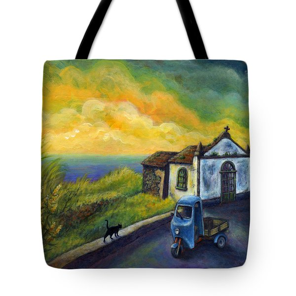 Memories Neath A Yellow Sky Tote Bag