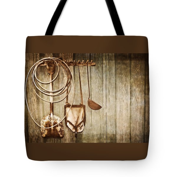 Memories Of Grandpa Tote Bag by Carolyn Marshall