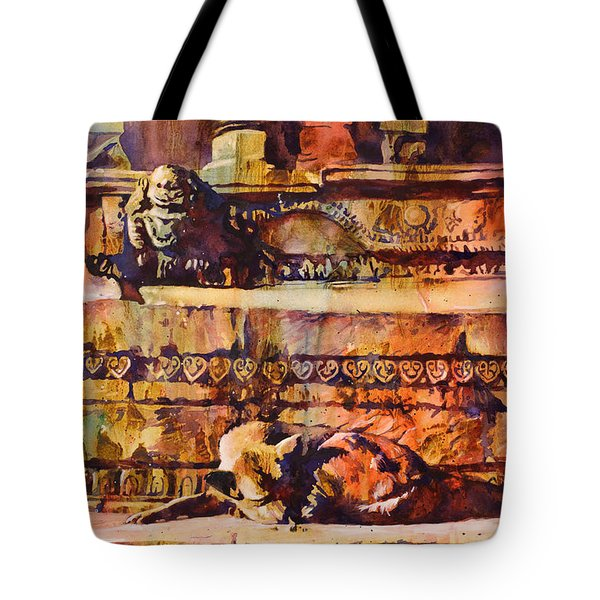 Memories Of Happier Times- Nepal Tote Bag by Ryan Fox