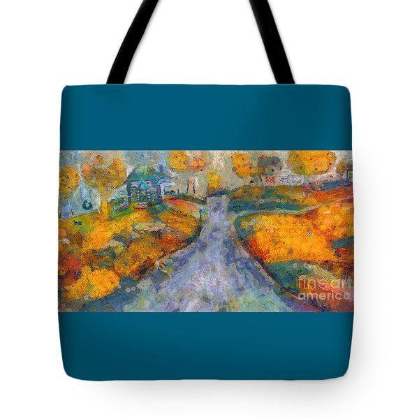 Memories Of Home In Autumn Tote Bag