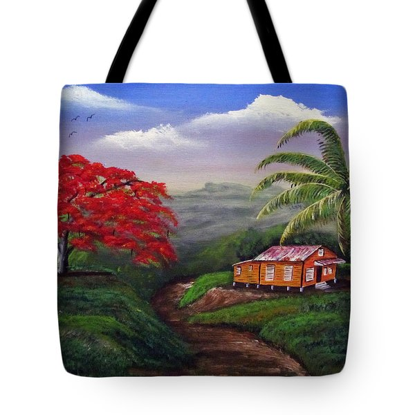 Memories Of My Island Tote Bag by Luis F Rodriguez