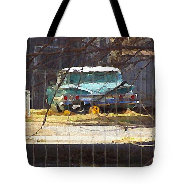 Memories Of Old Blue, A Car In Shantytown.  Tote Bag