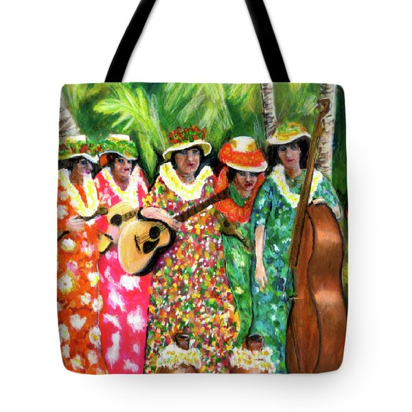 Memories Of The Kodak Hula Show At Kapiolani Park In Honolulu #20 Tote Bag by Donald k Hall