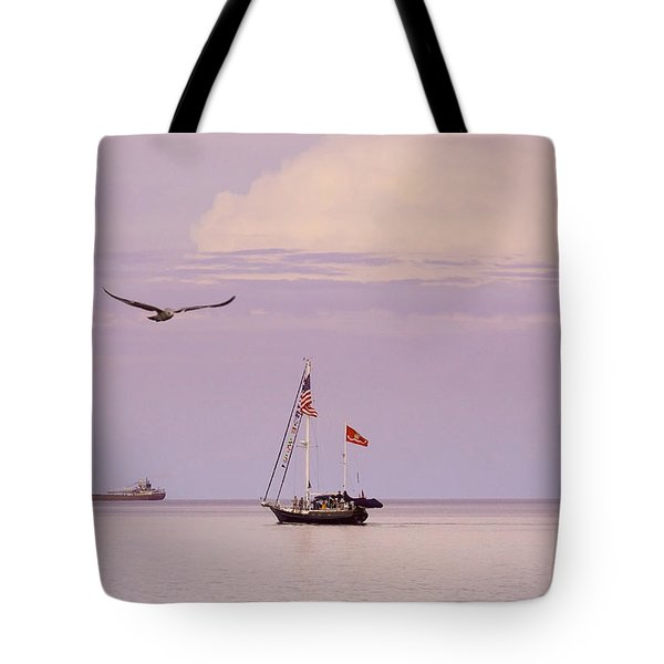 Tote Bag featuring the photograph Memories Of The Lake by Heidi Hermes
