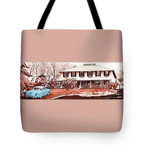 Memories Of The Nickerson Inn Tote Bag by LeAnne Sowa