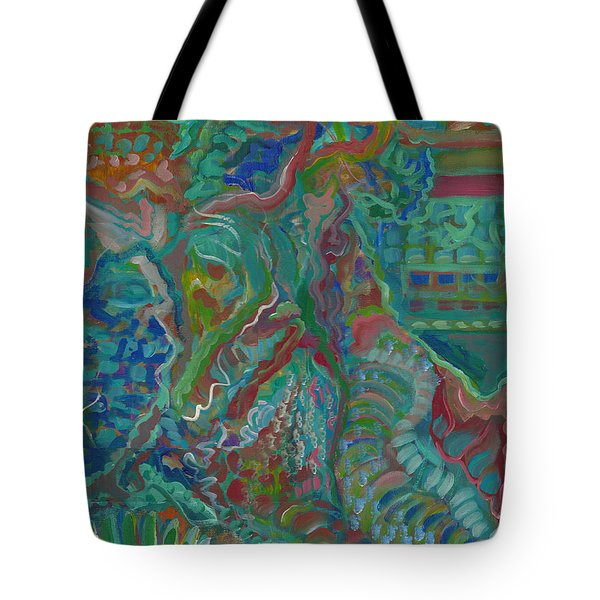 Tote Bag featuring the painting Memories Of The Wild by John Keaton