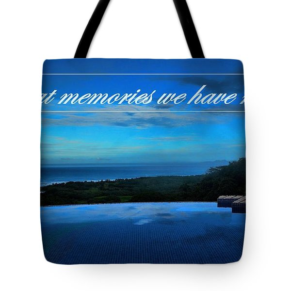 Memories We Have Made Tote Bag by Pamela Blizzard